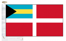 Bahamas Civil Red Ensign Courtesy Boat Flags (Roped and Toggled)